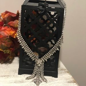 Silver rhinestone necklace from Express